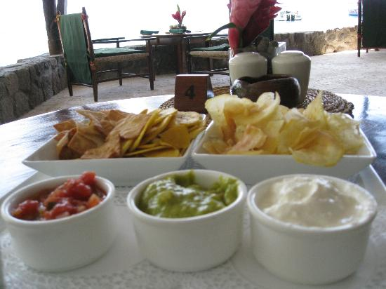 Anse Chastanet Beach and Reef: Snack at the bar - delicious