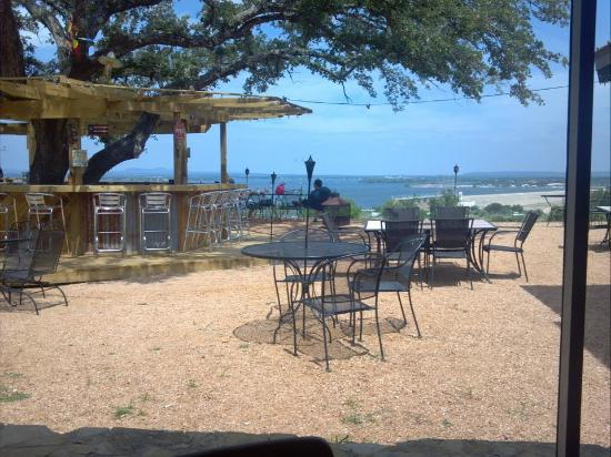 On The Rocks: A View Of The Patio Bar From Inside The Restaurant