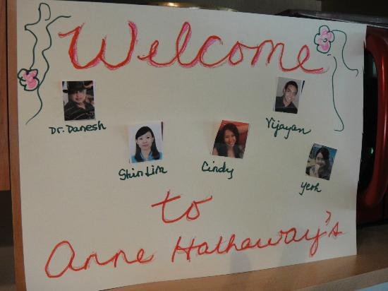 Anne Hathaways B&B and Garden Suites : Our fabulous welcome