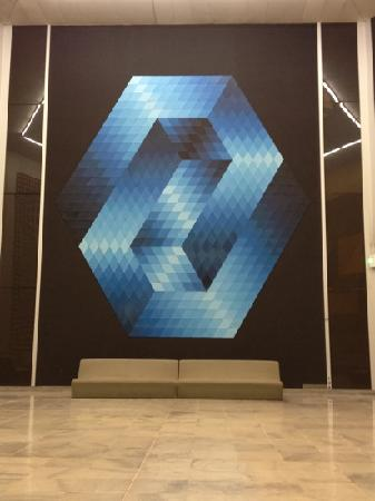 Foundation Vasarely: this is a flat painting