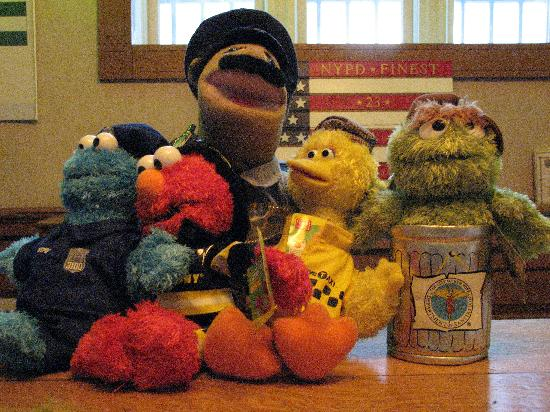 New York City Police Museum: Sesame Street Characters at NYC Police Museum