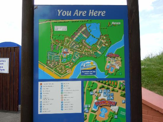Burnham Park Map Park map   Picture of Burnham on Sea Holiday Park   Haven, Burnham