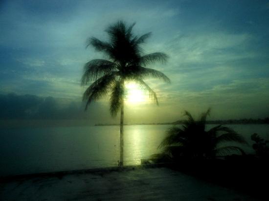 لا بلايتا: View outside our window at sunset
