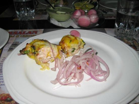 Cheese chicken Arsalan kebabs