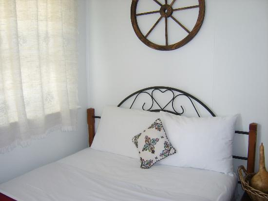 The Rex Motel : Decorator pillow brought from Bulgaria to share w/guests