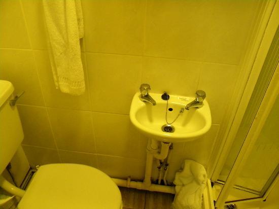 Gainsborough Lodge : Tiny basin - mould on floor