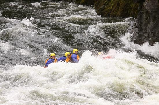 Lochsa River Rafting - ROW: Big Hit at House Wave