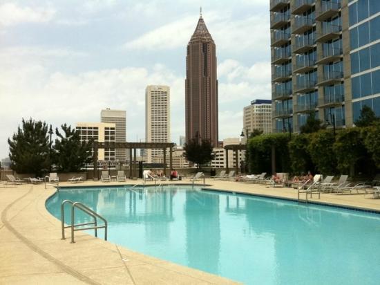 View From The Pool Picture Of Twelve Centennial Park Atlanta Tripadvisor