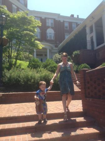 The Omni Homestead Resort: On the way to the pool
