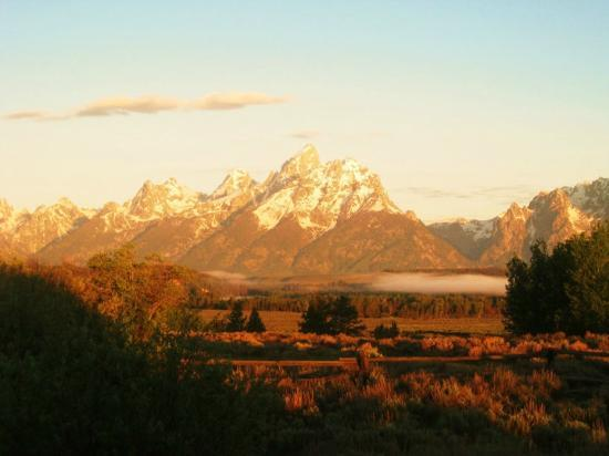 Triangle X Ranch: Sunrise view of the Tetons!