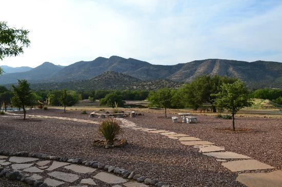 Sunglow Ranch - Arizona Guest Ranch and Resort: View of Mountains (beyond which lies New Mexico)