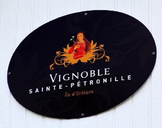 Vignoble Ste-Petronille: When you see this sign, you'll know you're there.