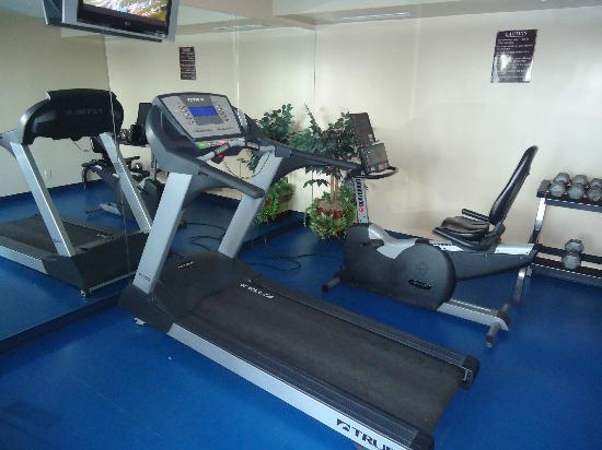 Comfort Inn & Suites Calgary Airport: fitnessruimte bij het zwembad