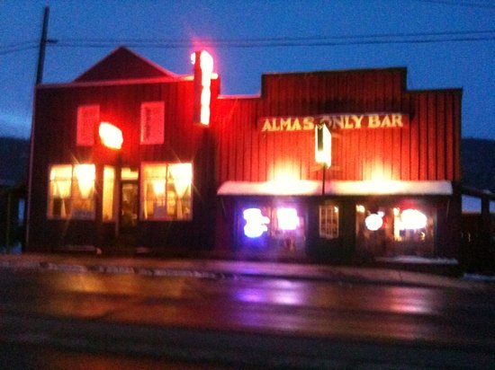 Alma's Only Bar: great food and highest music venue in north America