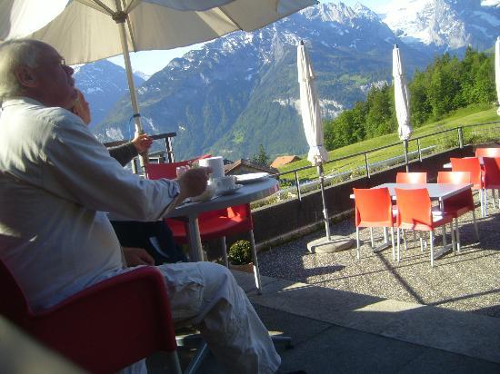 Hotel Gletscherblick : Frühstück auf der Terrasse