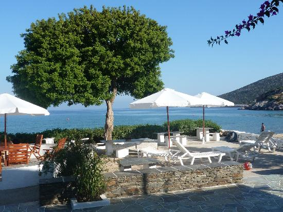 Utsikt över havet från Pension Ageliki