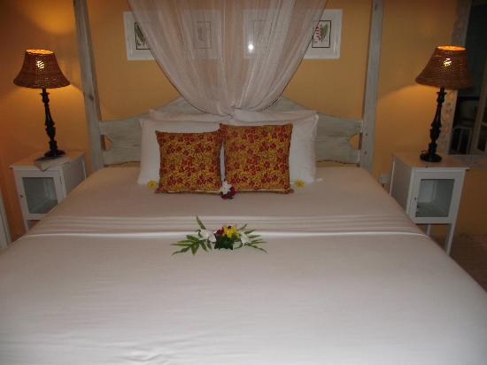 Sugarapple Inn: On arrival fresh flowers adorned the bed