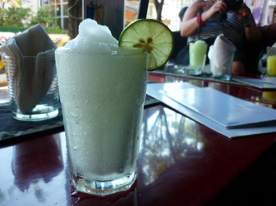 Nero Bar & Restaurant: Nero Bali's frozen Vodkas, this is the lemon one