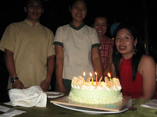 Oriental Siam Resort: b'day cake