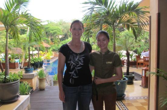 Victoria Angkor Resort & Spa: One of the friendly staff Voleak