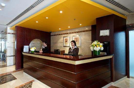 TIME Topaz Hotel Apartments: Front Desk
