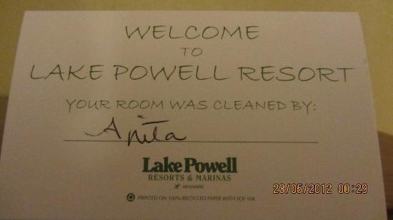 "Lake Powell Resort: El ""mensajito"""