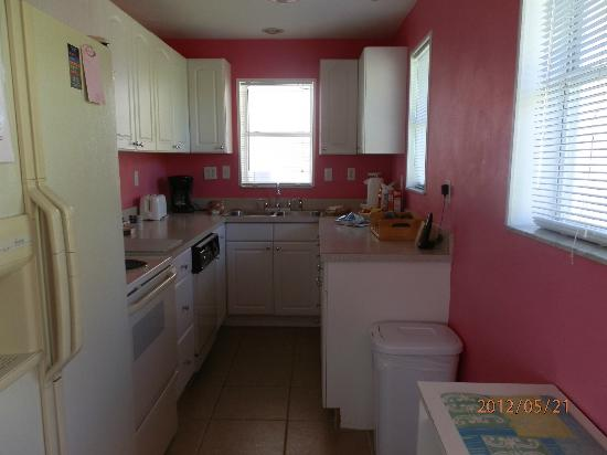 Granger House: Kitchen in the Pink Rose.