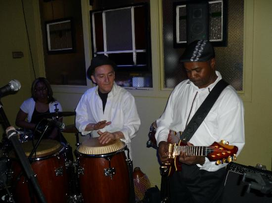 Cab's Wine Bar Bistro: The guest band livens up the crowd.