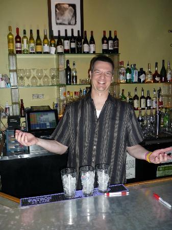 Cab's Wine Bar Bistro: Dave, the bartender, is a real hoot!
