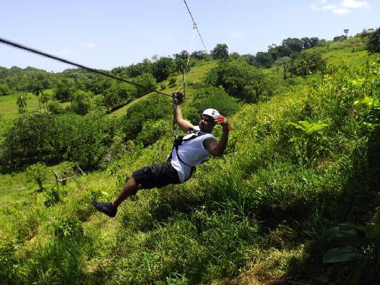Residencial Casa Linda: Zip lining excursion on our stay at Casa Linda