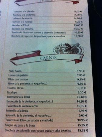 Cervecera El Molino: carta
