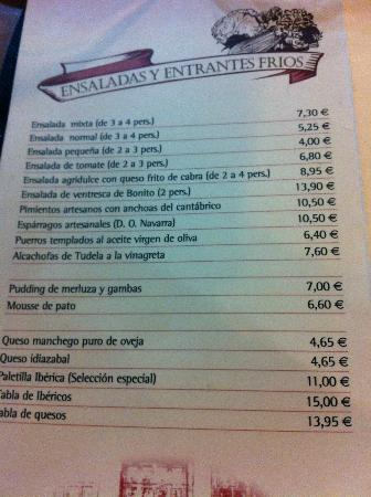 Cervecera El Molino : carta