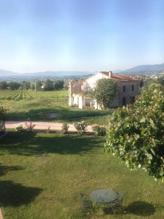 Casa Turrita: View from the room, breakfast table