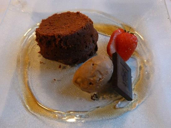 Lamplighter: Choc fondant with coffee ice cream
