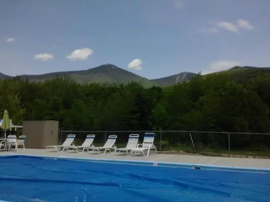 Parkers Motel: view of the mountains from the pool!