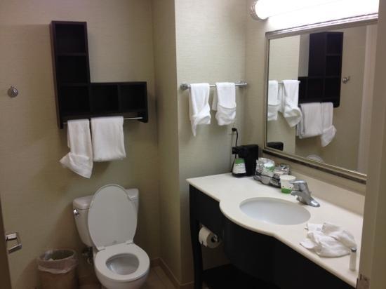 Hampton Inn Milford : spacious modern bathroom