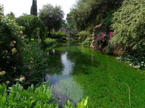 Il Fiume Ninfa Percorre Il Giardino Foto Di Giardino Di