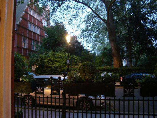 Out window to Collingham Gardens