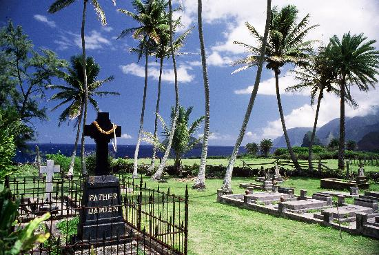 Kaunakakai, هاواي: Kalaupapa resident's final resting place