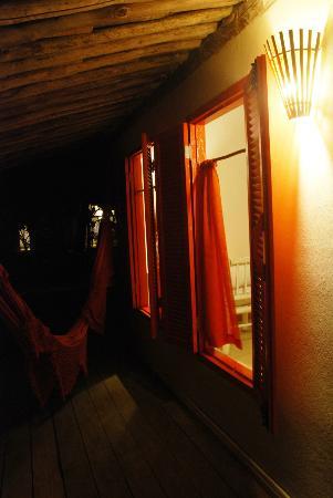 Pousada Lagoa: hammock to watch the stars...