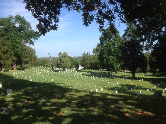 Vicksburg National Cemetery: Small numbered stones mark the unknown soldiers