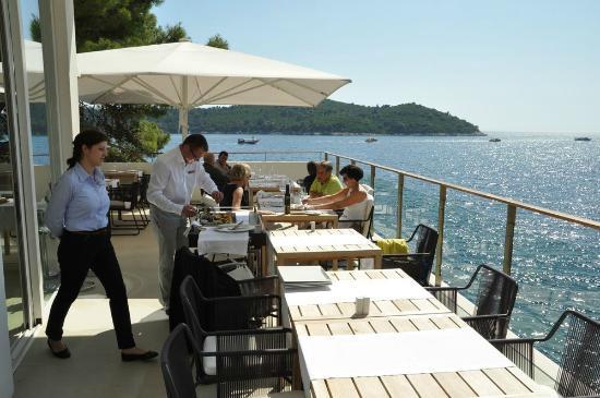 Villa Dubrovnik: Restaurant-Terrasse