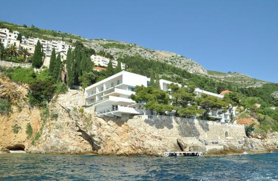 Villa Dubrovnik vom Meer gesehen