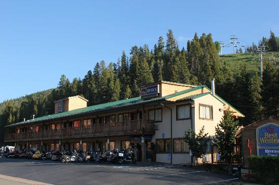 Red River, Nuevo Mexico: Hotel and Ski Lift