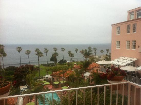 La Valencia Hotel: View to west (June gloom)