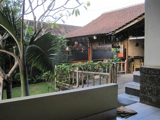 Bamboo Paradise Homestay: View from Terrace Towards Dining Area
