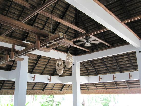 amun ini beach resort spa dining patio ceiling decor - Patio Ceiling Ideas