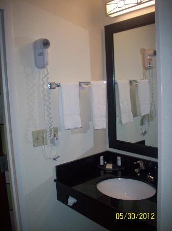 Fairfield Inn & Suites Memphis I-240 & Perkins : Mirror and Sink Area
