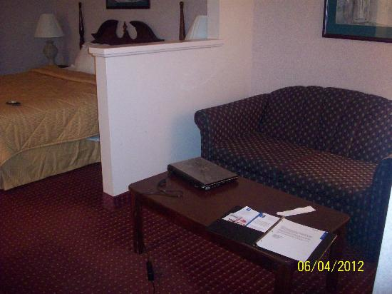 Comfort Inn West: Sitting Area and Bed