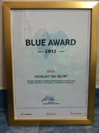 MOONLIGHT Exotic Bay Resort: Blue Award
